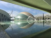 The L'Hemisfèric building. The L'Hemisfèric building at the City of Arts and Sciences in Valencia Spain Stock Images