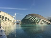 The L'Hemisfèric building. The L'Hemisfèric building at the City of Arts and Sciences in Valencia Spain Royalty Free Stock Photography