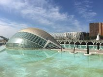 The L'Hemisfèric building. The L'Hemisfèric building at the City of Arts and Sciences in Valencia Spain Stock Photography