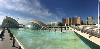 L'Hemisfèric building. Panorama from the L'Hemisfèric building at the City of Arts and Sciences in Valencia Spain Stock Photo