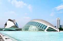 L'Hemisferic in the City of Arts and Sciences Stock Photos