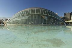 LÂ'Hemisferic från Valencia i Spanien arkivfoton