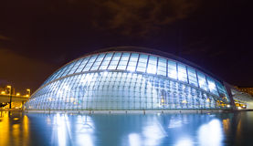 L'Hemisferic  in night. Valencia Stock Image