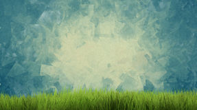 L'herbe 3d de nature d'herbe verte de fond rendent Photographie stock