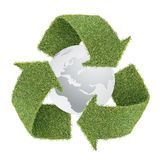 l'herbe de globe réutilisent le symbole Photo libre de droits