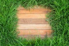 L'herbe entourant le passage couvert de tuile Image libre de droits