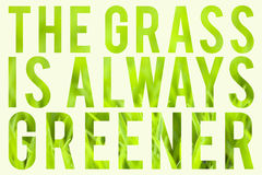 L'herbe est toujours plus verte Photos stock