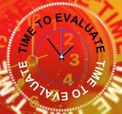 L'heure d'évaluer indique l'évaluation d'opinion et calcule illustration libre de droits