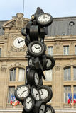 L`Heure de Tous monument, Saint-Lazare train station, Paris Royalty Free Stock Photo