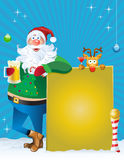 L'heure heureuse de Santa Image libre de droits