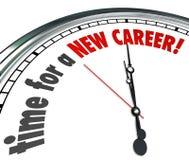 L'heure pour un nouveau travail de travaux de changement d'horloge de carrière suivent des rêves Image libre de droits