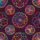 L'hexagone beaucoup rayent le modèle sans couture coloré illustration libre de droits