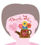 L'hexagone de couture de fête des mères vous remercient Photo stock