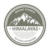 L'Himalaya bloqué par la neige de montagne - timbre d'Everest Image libre de droits