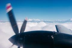 L'Himalaya d'un avion, Népal Photographie stock libre de droits