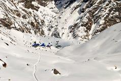 L'Himalaya e campo base Fotografie Stock