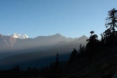 L'Himalaya indiana - Tungnath Immagine Stock