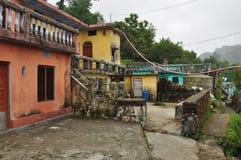 L'Himalaya indien : village de montagne Images stock
