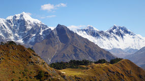 L'Himalaya, montagne, Nepal Immagini Stock Libere da Diritti