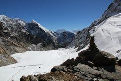 l'Himalaya - passage de La de Cho Images libres de droits