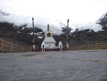 L'Himalaya Tibet del ghiacciaio di Kharola Immagini Stock