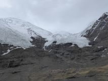 L'Himalaya Tibet del ghiacciaio di Kharola Fotografie Stock Libere da Diritti