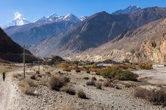 L'Himalaya, ville Jomsom Photo stock