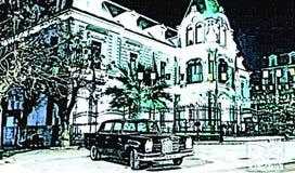 L'histoire de la ville d'abbes de bel de sidi illustration stock