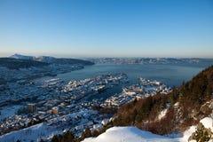 L'hiver à Bergen Images libres de droits