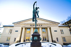 L'hiver à l'échange courant norvégien photographie stock