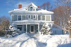 l'hiver à la maison Images stock
