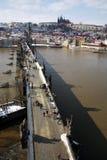 L'hiver à Prague Image libre de droits