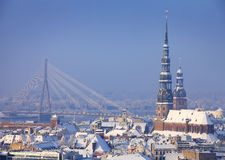 L'hiver à Riga Photo stock