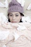 L'hiver 1 de grippe Images libres de droits