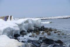 L'hiver au bord de la mer Image stock