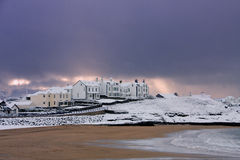 L'hiver au compartiment de Trearddur Photo stock