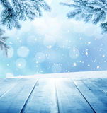 L'hiver background illustration stock