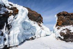 L'hiver Baikal Photographie stock libre de droits