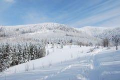 l'hiver beskydy de pays Photos stock