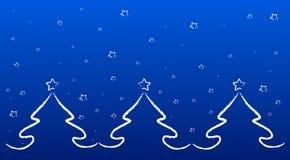 L'hiver bleu Images libres de droits