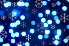 l'hiver bleu de flocons de neige de fond Images libres de droits