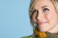 l'hiver blond de fille Photographie stock