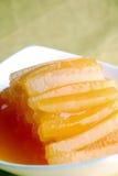 l'hiver délicieux de melon de nourriture de porcelaine glacée Photographie stock