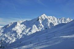 l'hiver d'alpes Photographie stock