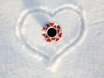 l'hiver d'amour Image libre de droits