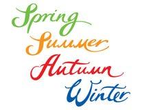 L'hiver d'automne d'été de source Photos libres de droits
