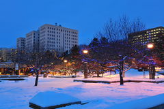 l'hiver d'Edmonton Photos stock