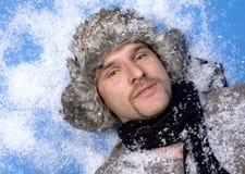 l'hiver d'homme Images libres de droits