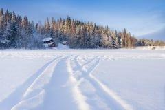 l'hiver d'horizontal Photos stock