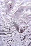 l'hiver d'hublot de hoar de gel de fond photo stock